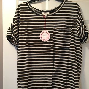 Umgee black white stripe medium NWT